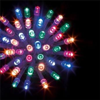 E GUIRLANDE 100 LED 10 M MULTICOLOR fil transpa IP44